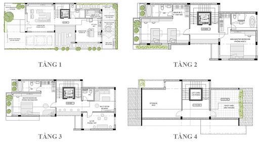 Mặt bằng thiết kế biệt thự An Vượng Villa