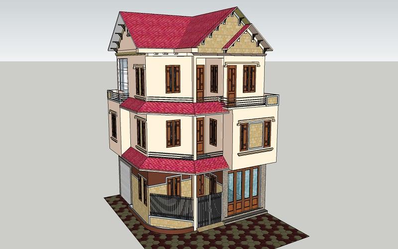 Mẫu thiết kế biệt thự khu đô thị mới Hòa Vượng