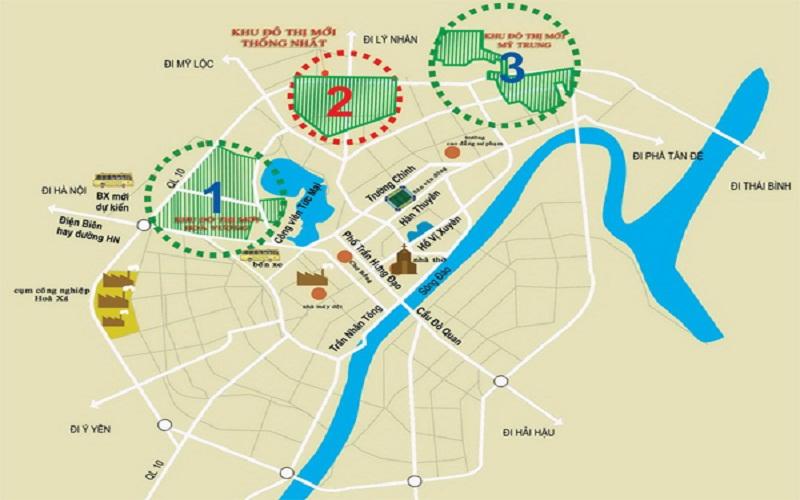 Vị trí dự án khu đô thị mới Hòa Vượng