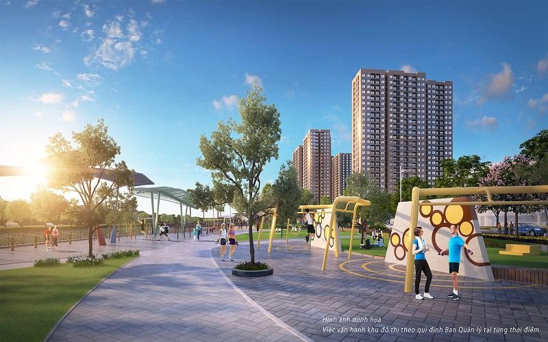 Công viên cây xanh trong khu đô thị mới Mỹ Trung