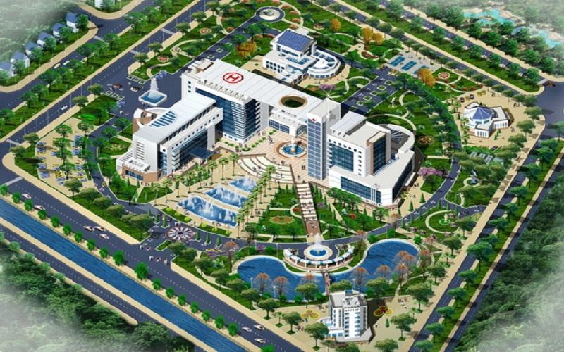 Bệnh viện đa khoa 700 giường được xây dựng bên trong dự án