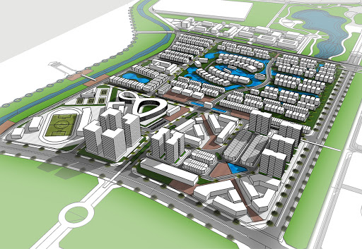 Mặt bằng thiết kế dự án khu đô thị mới Mỹ Trung