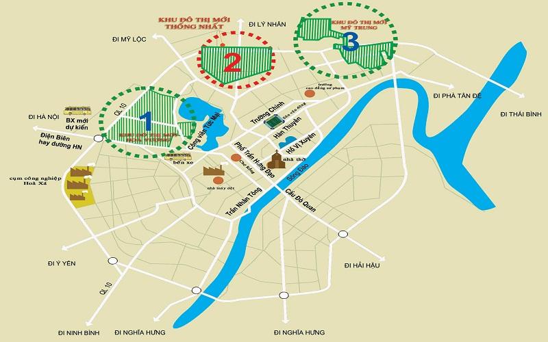 Vị trí khu đô thị mới Mỹ Trung